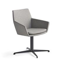 Konferenční židle Fairview, černá, stříbrnošedá