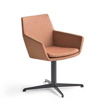 Konferenční židle Fairview, černá, měděná