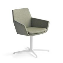 Konferenční židle Fairview, bílá, zelenomodrá