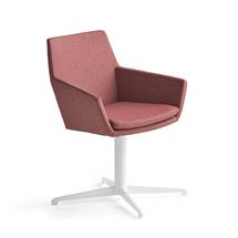 Konferenční židle Fairview, bílá, švestková