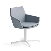 Konferenční židle Fairview, bílá, modrošedá