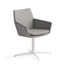 Konferenční židle Fairview, bílá, stříbrnošedá