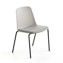 Židle Langford, rovné nohy, šedá