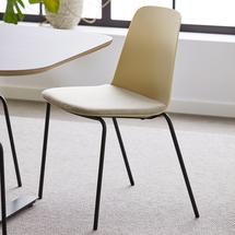 Židle Langford, rovné nohy, žlutá