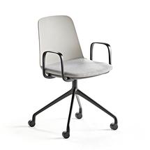 Židle Langford, kolečková, šedá