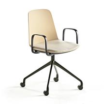 Židle Langford, kolečková, žlutá