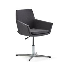 Konferenční židle Fairfield, leštěný hliník, antracitová