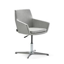 Konferenční židle Fairfield, leštěný hliník, stříbrnošedá