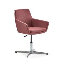 Konferenční židle Fairfield, leštěný hliník, červenofialová