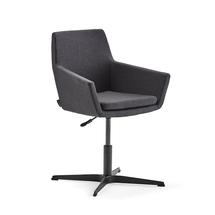 Konferenční židle Fairfield, černá, antracitová