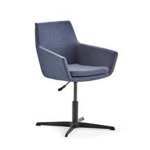 Konferenční židle Fairfield, černá, modrošedá