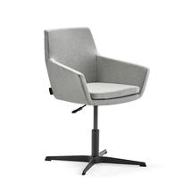 Konferenční židle Fairfield, černá, stříbrnošedá