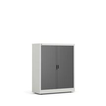Roletová skříň Studio, 1200x1000x420 mm, šedá, černé dveře