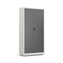 Roletová skříň Studio, 1950x1000x420 mm, šedá, černé dveře