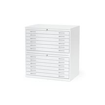 Výkresová skříň Sketch, 12 zásuvek, A1, deska lamino, bílá