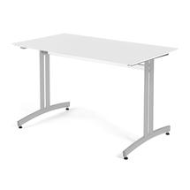 Jídelní stůl Sanna, 1200 x 700 x V 720 mm, bílá/šedá