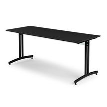Jídelní stůl Sanna, 1800x700 mm, HPL, černá, černá