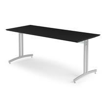 Jídelní stůl Sanna, 1800x700 mm, HPL, černá, hliníkově šedá