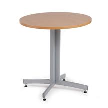 Kulatý jídelní stůl Sanna, Ø700 mm, buk, hliníkově šedá