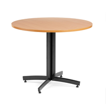 Kulatý jídelní stůl Sanna, Ø900 mm, buk, černá
