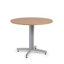 Kulatý jídelní stůl Sanna, Ø900 mm, buk, hliníkově šedá