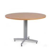 Kulatý jídelní stůl Sanna, Ø1100 mm, buk, hliníkově šedá