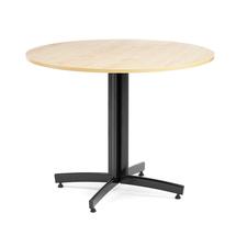 Kulatý jídelní stůl Sanna, Ø900 mm, bříza, černá