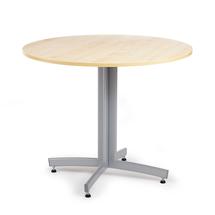 Kulatý jídelní stůl Sanna, Ø900 mm, bříza, hliníkově šedá