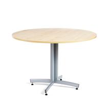 Kulatý jídelní stůl Sanna, Ø1100 mm, bříza, hliníkově šedá