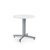 Kulatý jídelní stůl Sanna, Ø700 mm, bílá, hliníkově šedá