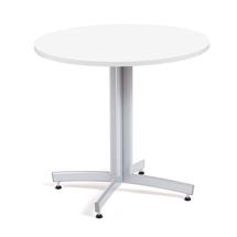 Kulatý jídelní stůl Sanna, Ø900 mm, bílá, hliníkově šedá