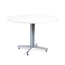 Kulatý jídelní stůl Sanna, Ø1100 mm, bílá, hliníkově šedá