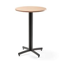 Barový stůl Sanna, Ø700x1050 mm, buk, černá