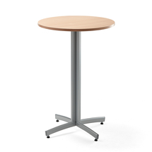 Barový stůl Sanna, Ø700x1050 mm, buk, šedá