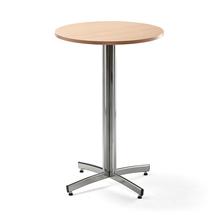 Barový stůl Sanna, Ø700x1050 mm, buk, chrom