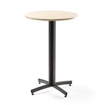Barový stůl Sanna, Ø700x1050 mm, bříza, černá