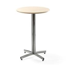 Barový stůl Sanna, Ø700x1050 mm, bříza, chrom