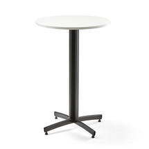 Barový stůl Sanna, Ø700x1050 mm, bílá, černá