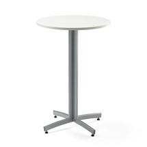 Barový stůl Sanna, Ø700x1050 mm, bílá, šedá