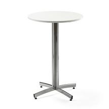Barový stůl Sanna, Ø700x1050 mm, bílá, chrom