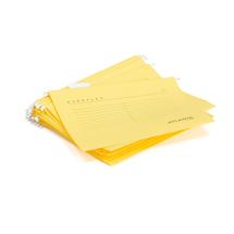 Závěsné desky, A4, žlutá, bal. 25 ks