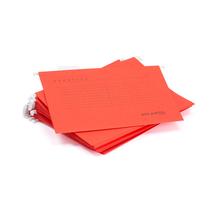 Závěsné desky, A4, červená, bal. 25 ks