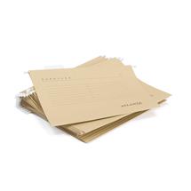 Závěsné desky, A4, přírodní, bal. 25 ks