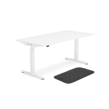 Sestava: výškově nastavitelný stůl Modulus + protiúnavová rohož