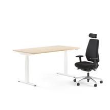 Kancelářská sestava: výškově nastavitelný stůl Modulus + kancelářská židle Watford