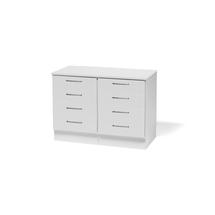 Skříňka - 2 zásuvkové sekce + prac. deska, bílá/bílá, 876 x