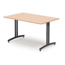 Jídelní stůl Sanna, 1200x700 mm, buk, černá