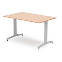 Jídelní stůl Sanna, 1200x700 mm, buk, hliníkově šedá