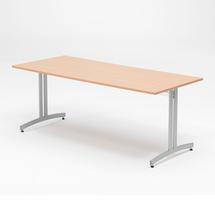 Jídelní stůl Sanna, 1800x700 mm, buk, hliníkově šedá