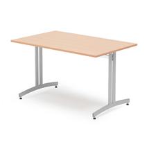 Jídelní stůl Sanna, 1200x800 mm, buk, hliníkově šedá